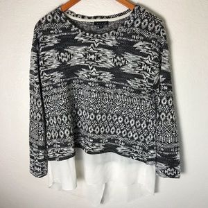 SALE Kiara Women's sweater Black and White Size M